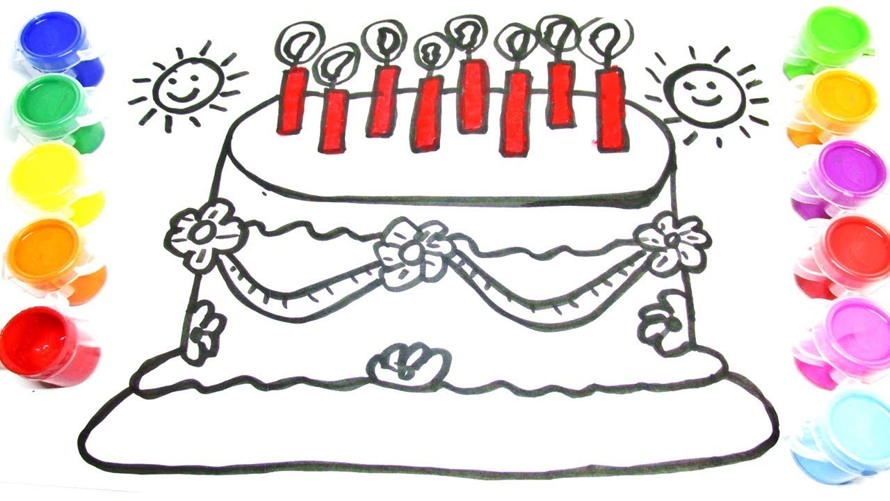 learning colors for kidsdrawing cake coloring pages