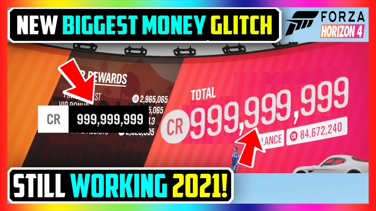 NEW BIGGEST FORZA HORIZON 4 MONEY GLITCH! UNLIMITED CREDITS FAST (STILL WORKING 2021!)