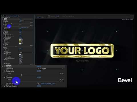 Free Logo After Effects Project Animation Gold Silver Melal Chrome Minimal Dark