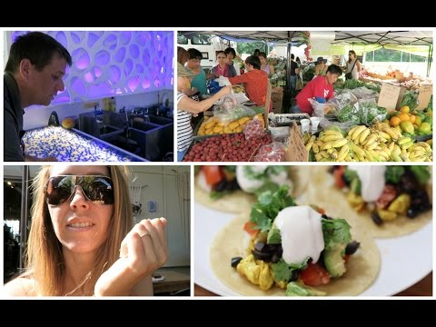 VLOG: Farmers Market | Paia Town | Garden