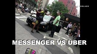 Bike Messenger VS Uber Driver [ Caught On Camera ]