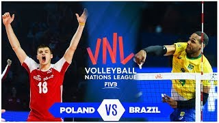 Poland vs Brazil | Bronze Medal Match | Highlights | VNL 2019 (HD)
