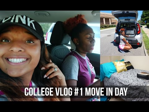 College Vlog#1 |  Move in Day