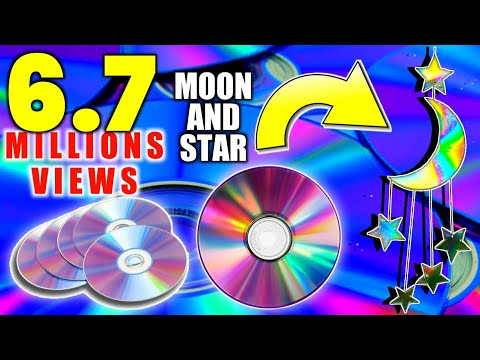 How To Make MOON🌙 And STAR⭐ Waste CD || Room Decor || Part -1 ||Art Ideas