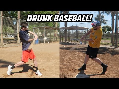 What If You Played Baseball While Drunk? (Baseball Challenge)