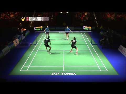 J F. Nielsen/C. Pedersen vs M. P. Kolding/K. R. Juhl | XD F Match 1 - Yonex German Open 2015