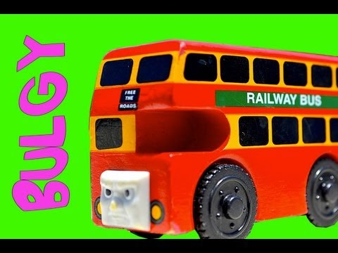 Thomas & Friends BULGY THE BUS - Wooden Train Railway Mattel Toy Review - Character Fridays