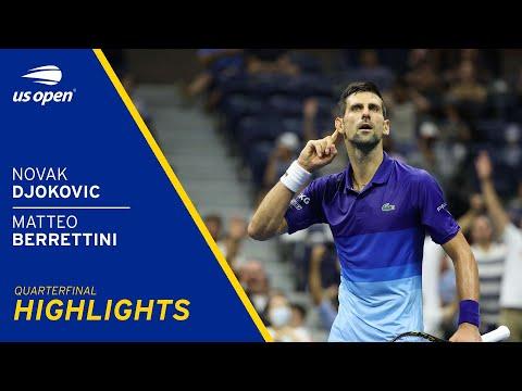 Novak Djokovic vs Matteo Berrettini Highlights   2021 US Open Quarterfinal