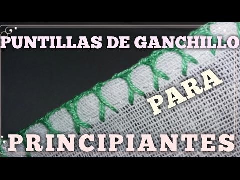 PUNTILLAS DE GANCHILLO FACILES  PARA  PRINCIPIANTES #7