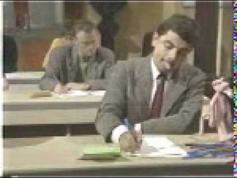 mr bean take an exam