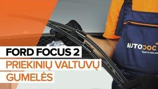 Kaip pakeisti Stiklo valytuvai FORD FOCUS II (DA_) - vaizdo vadovas