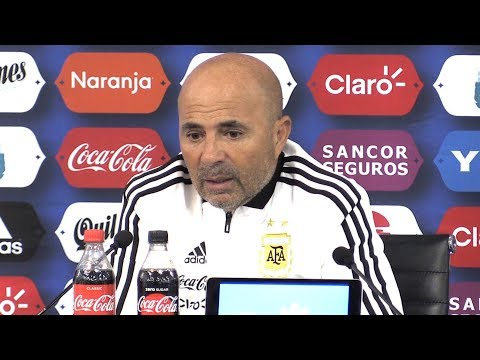 Argentina 2-0 Italy - Jorge Sampaoli Full Post Match Press C