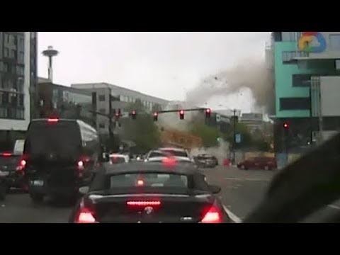 Video shows deadly crane collapse in downtown Seattle