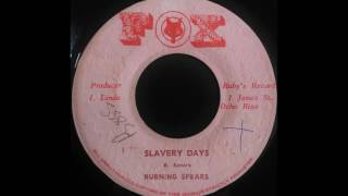 BURNING SPEAR - Slavery Days [1975]