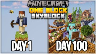 I Spent 100 Days on ONE BLOCK Minecraft... Here's What Happened