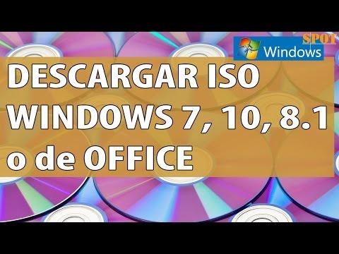 Descargar imagen ISO de Windows 7, 10, 8.1 o de Office