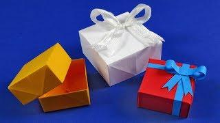 Как сделать коробочку из бумаги - Оригами коробка.