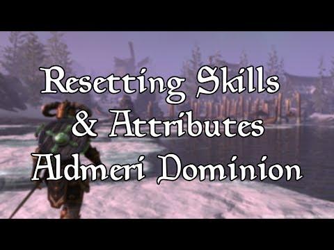 How to Reset Skills/Attributes as Aldmeri Dominion