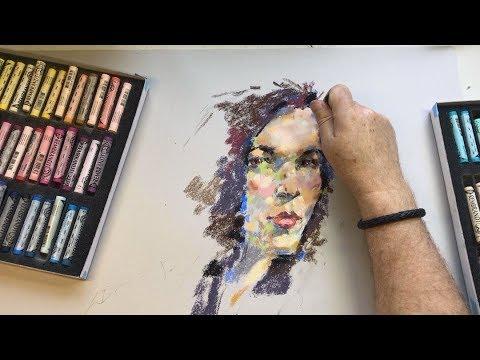Pastel Portrait - Sketching with Sheldon #009