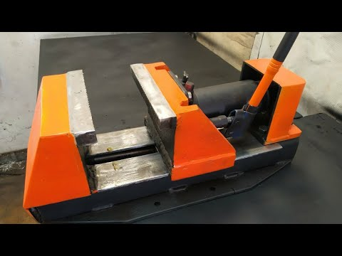Making hydraulic vise using car jack