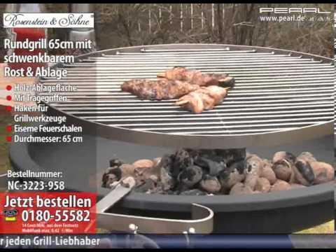 Florabest Holzkohlegrill Mit Aktivbelüftung Anleitung : Rosenstein & söhne rundgrill 65cm mit schwenkbarem rost & ablage