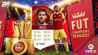 95 IF MESSI!!!! 44 RED INFORMS AND ICON IN A PACK! FUT CHAMPIONS REWARDS! | FIFA 18 ULTIMATE TEAM