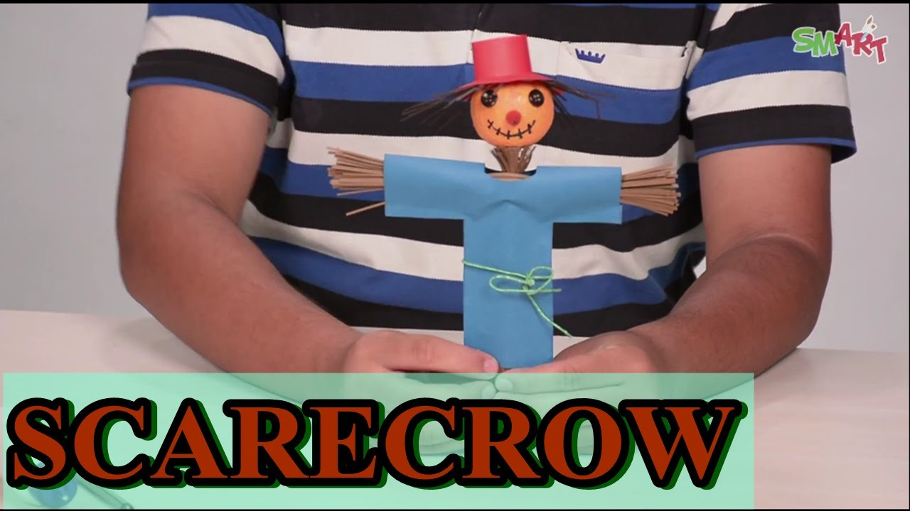 How To Make A Scarecrow Diy Art Craft Videos For Kids From