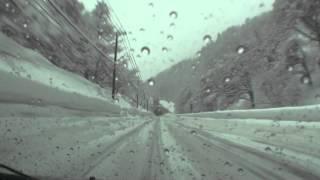 冬の国道13号 雪深き東北の旅5