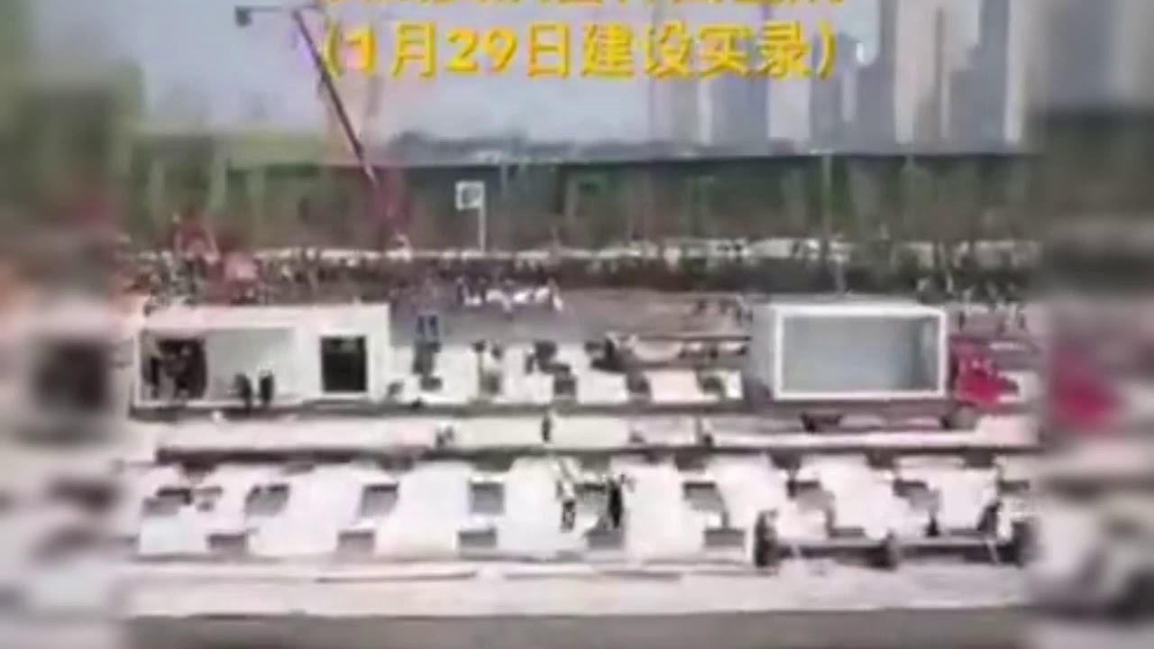 Corona Çinde Son durum Hastane  Yapımı