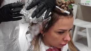 Окрашивание волос в технике Air Touch в Naturel Studio