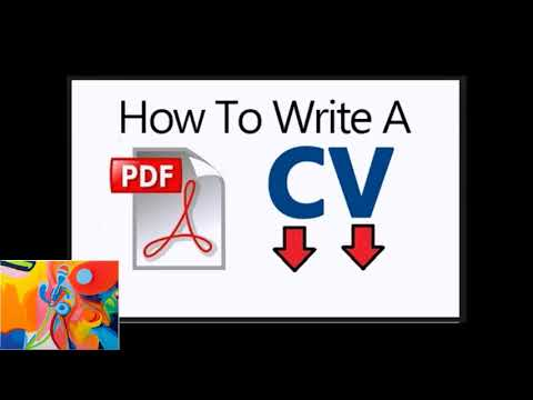 We Will Let You Know How To Write Cv Pdf