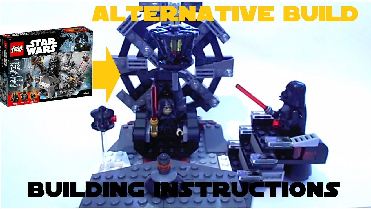 Lego 75183 Darth Vader Transformation Alternative Build Building
