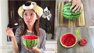 Watermelon lemon sorbet ice sweet and sour perfect summer dessert recipe 西瓜冰