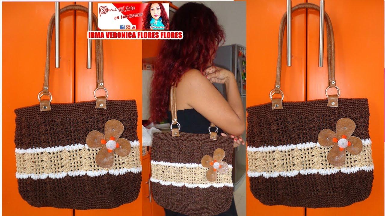 aprende a tejer bolso grande y espacioso tejido a crochet paso a paso youtube