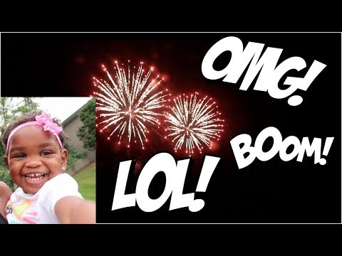 JAYLA'S ADORABLE REACTION TO FIREWORKS! | WAIT UNTIL YA'LL HEAR WHAT SHE SAID! LOL! 👶🏽👶🏾😍