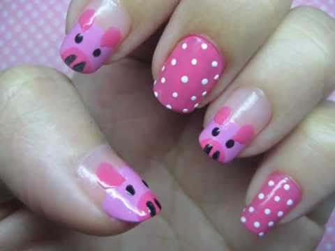 Cute Little Pigs Nail Art Tutorial