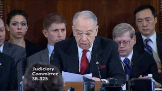 Grassley Opens Judiciary Hearing on U.S. Attorney General Nominee Sen. Jeff Sessions