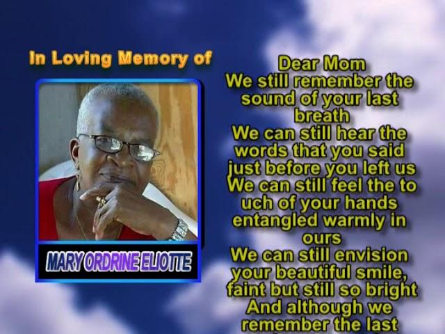 Mary Ordrine Eliotte Memorial