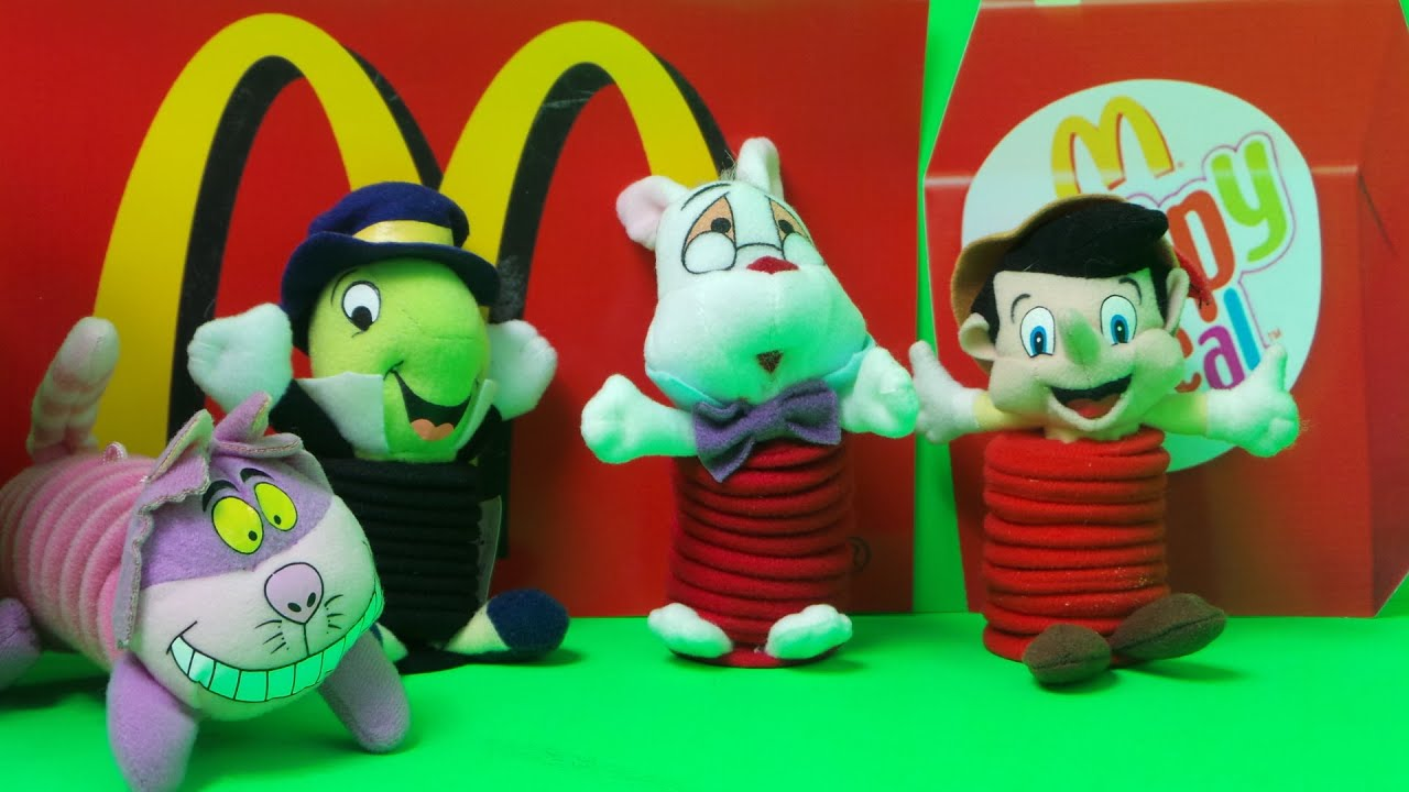 2003 McDONALD S KIDS HAPPY MEAL PINOCCHIO TOYS CLASSIC UNBOXING
