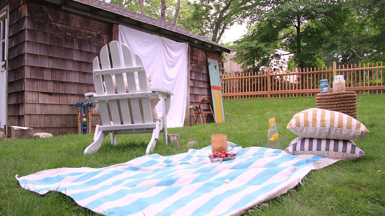 diy outdoor movie night see the stars in your own backyard youtube