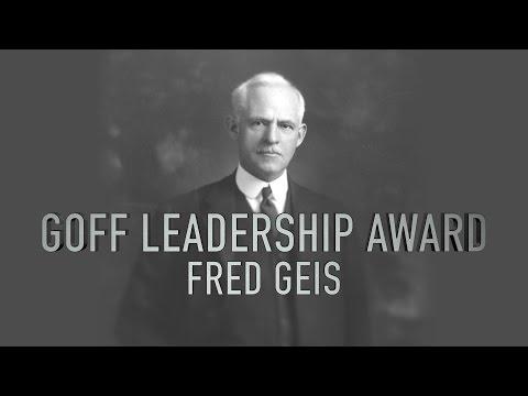 2015 Goff Leadership Award