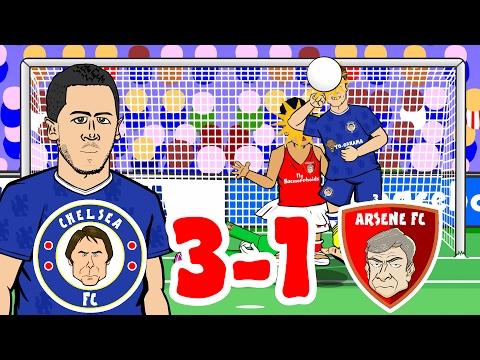 🎤CHELSEA 3-1 ARSENAL - the SONG🎤 (2017 Stamford Bridge Hazard Goal, Alonso, Giroud, Fabregas)