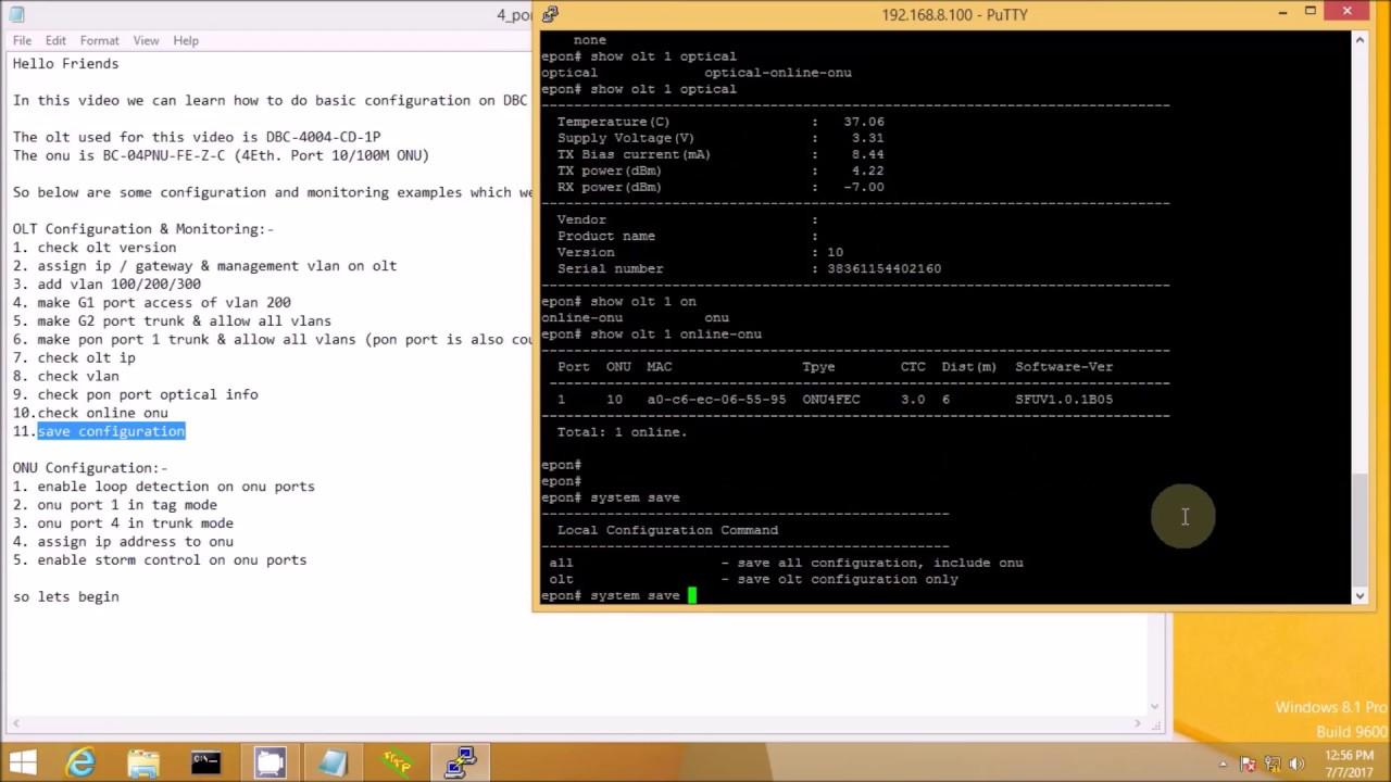 How to Configure DBC EPON OLT Part 2