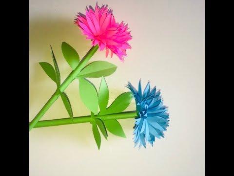 DIY How To Make Paper Flowers Chrysanthemum- Easy Craft Work DIY