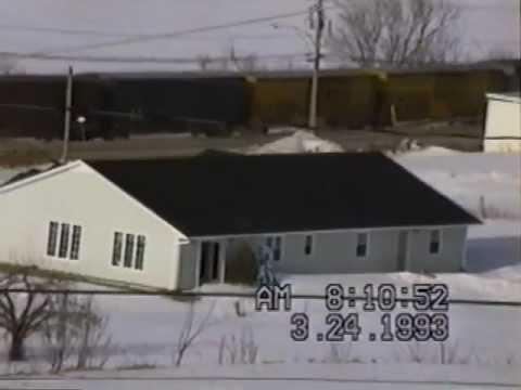 CPR train  Douglas, New Brunswick 1993