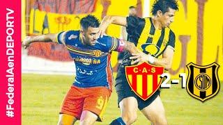 Sarmiento (Resistencia) 2-1  Deportivo Madryn - Goles, resumen y mejores jugadas - Torneo Federal A