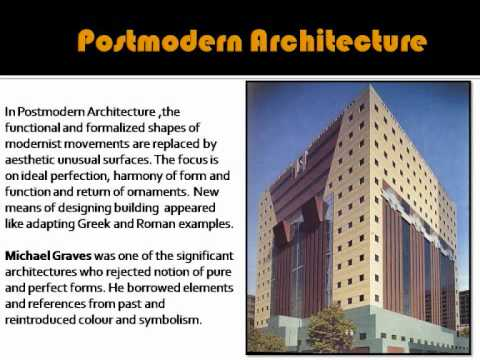 Postmodern architecture youtube for Architecture post moderne