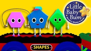 Shapes Train Song | Nursery Rhymes | Original Song by LittleBabyBum