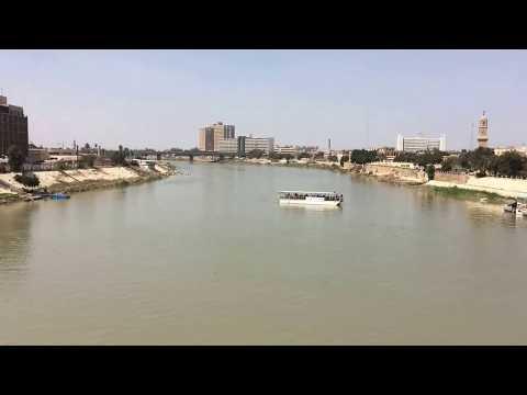 مشهد نهر دجله من جسر الشهداء The scene of the Tigris River from Martyrs Bridge