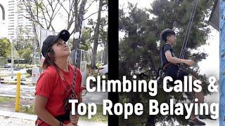 Climbing Calls & Top Rope Belay - Sport Climbing Level 1 Tutorial | MOA Academy